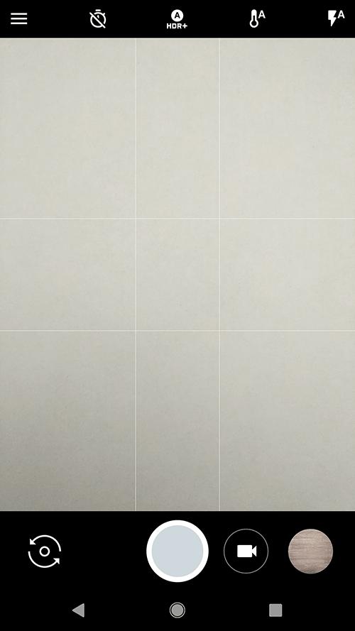 android 9 - отобразить сетку на экране при съемке или фотографировании